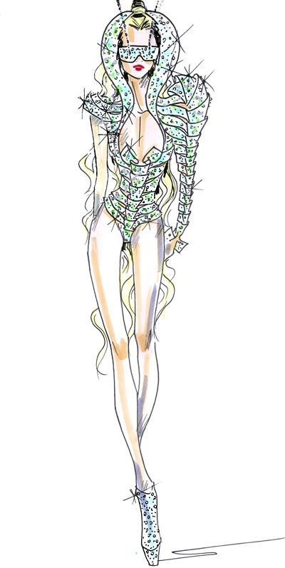 fashion sketches | Diamond of Doom: Armani Fashion Sketches
