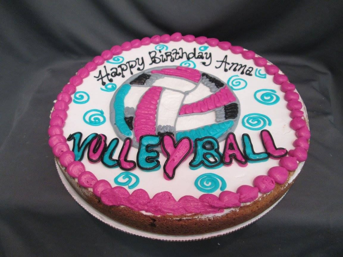 Volleyball Cookie Cake Party Cakes Cookie Cake Cake