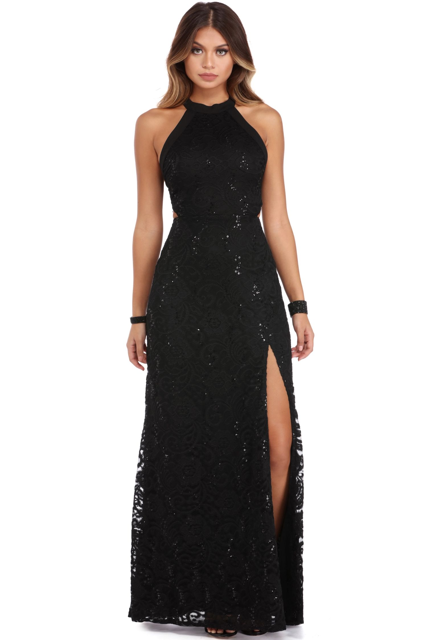 Cassie Black Sophisticated Lace Dress   windsor   Gowns and Dresses ...