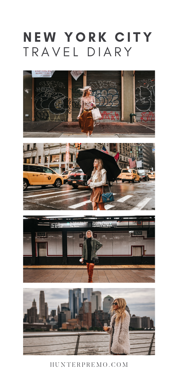 New York City Photography and Travel Diary. Where to Eat, what to wear and the best photography inspiration for your next trip. Hunter Premo #HunterPremo #fashionblogger #travelblogger #Fashionista #NYC #NewYork #NYCTips #tipsforNY
