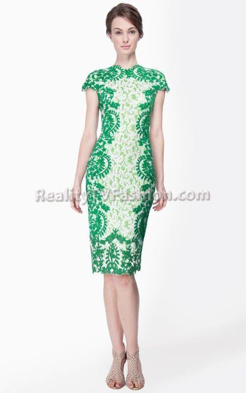 tadashi soji green leaf dress | Mica Hughes' Tadashi Shoji Green ...