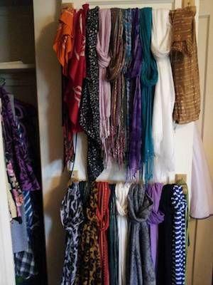 Ways To Organize Scarves Creative Ways To Organize Scarves