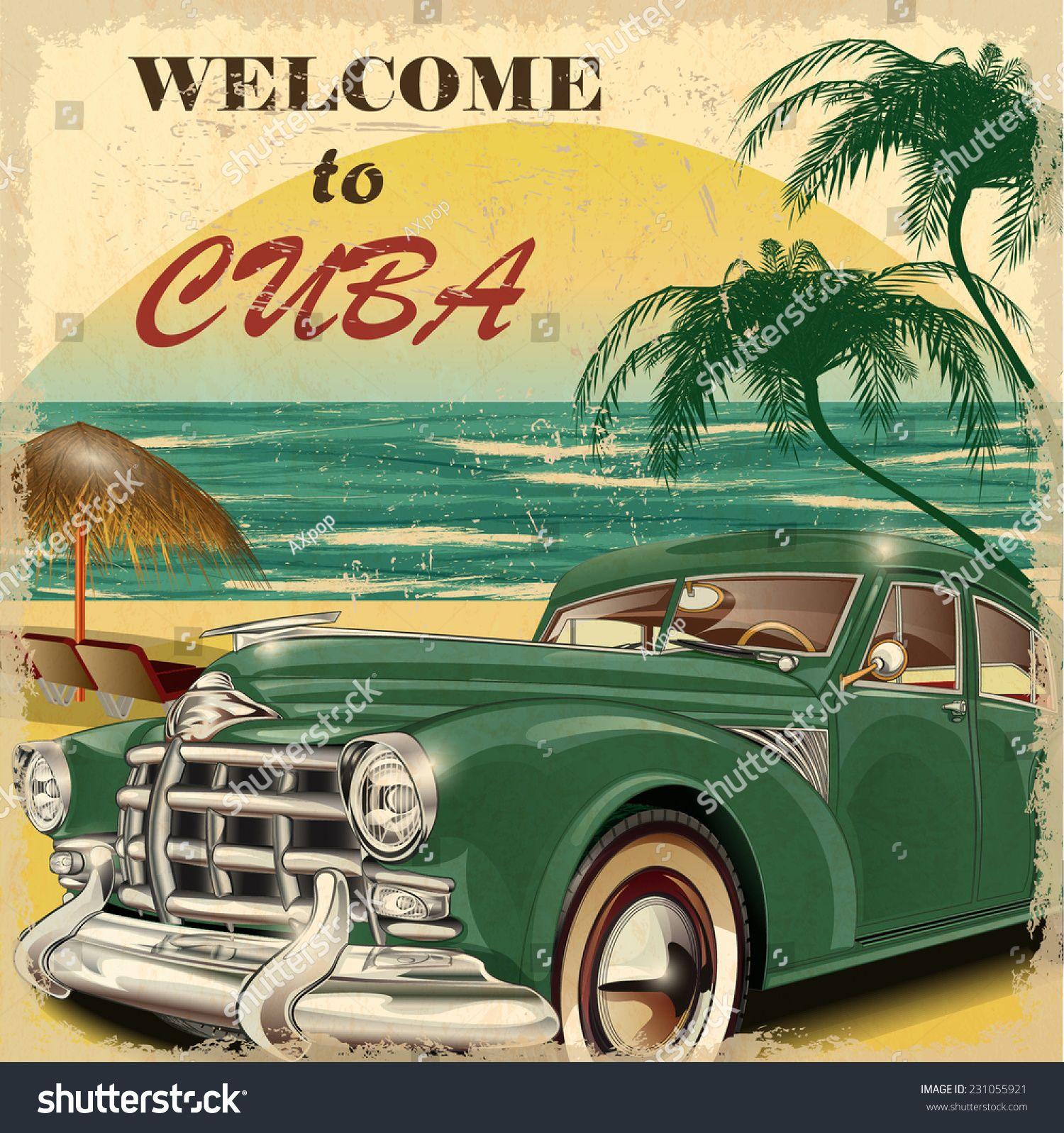 Cuba Retro Poster. School