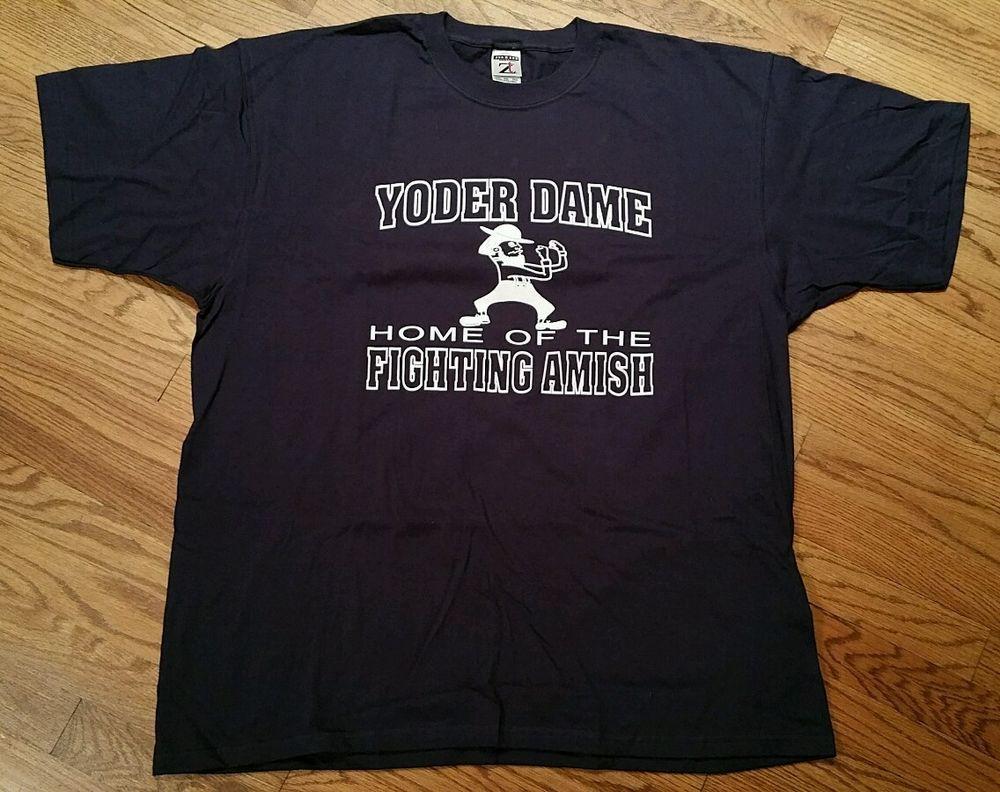 4602a99c2 Yoder Dame Fighting Amish T-Shirt Men s 2XL (notre dame irish football  spinoff)…