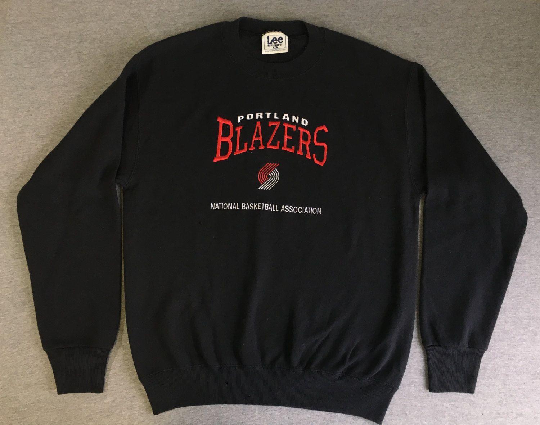 de3d8345dd0 PORTLAND TRAIL BLAZERS Sweatshirt 90 s Vintage Lee Rip City Sewn Black NbA  Basketball Shirt  Super Soft Black UsA Made Medium by sweetVTGtshirt on Etsy