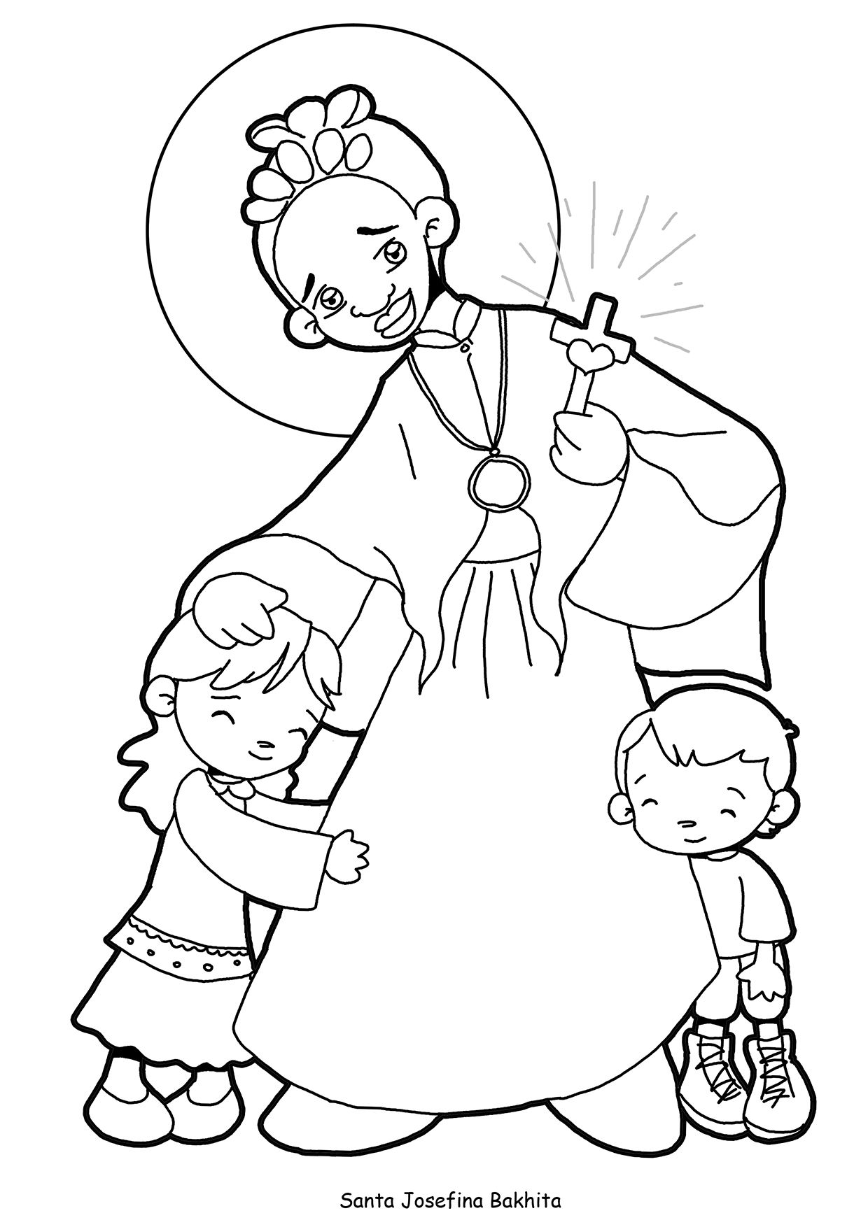 SANTA JOSEFINA BAKHITA para pintar. | Santas II | Pinterest | Pintar ...