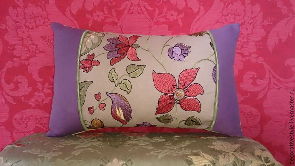 Купить Подушка декоративная (Подушка с вышивкой) - декоративная подушка, подушка декоративная, подушка, подушка на диван