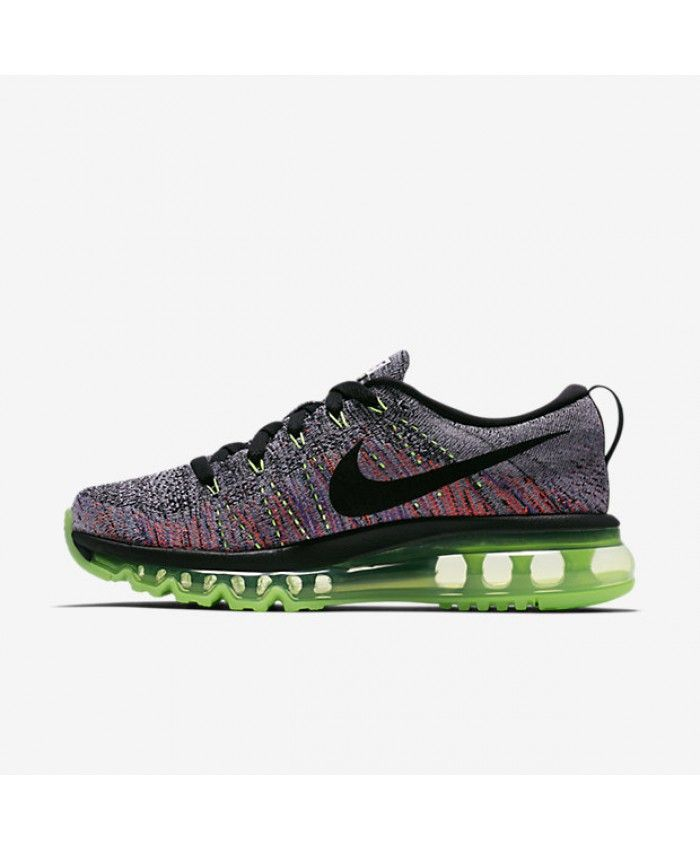 c06da5ccc006 Nike Flyknit Air Max White Ghost Green Bright Mango Black Women s Shoes    Trainers 50%-70% Off