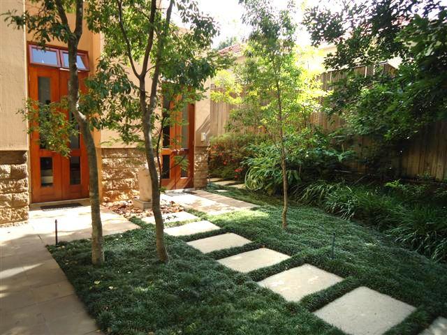 garden idea - for shady areas where grass won't grow ...
