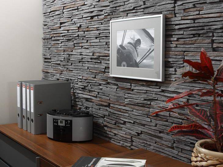 Revestimiento pared piedra ideas para mi casa wall - Imitacion a piedra para paredes ...