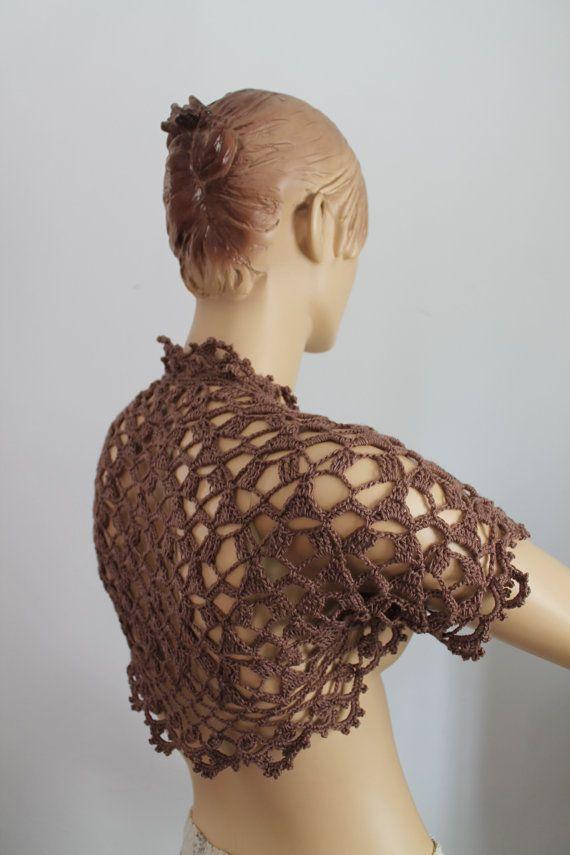 Encaje Crochet Bolero de encogimiento de hombros por levintovich ...