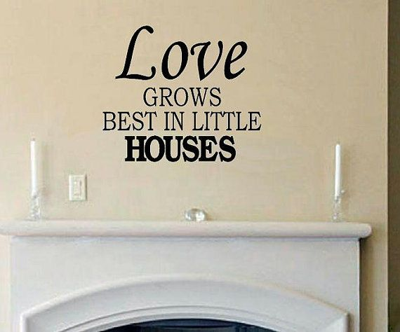 Christmas Quotes And Sayings Glitter Sticker Decal: Love Grows Best In Little Houses