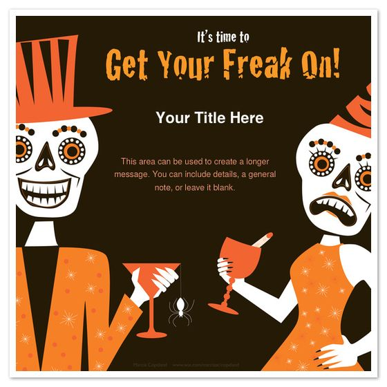 get your freak on free from pinng halloween party email