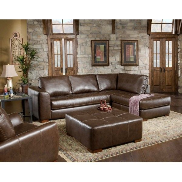 Fairfax 2 Pc Sectional Sectional Sofa Couch Brown Sectional Sectional Sofa
