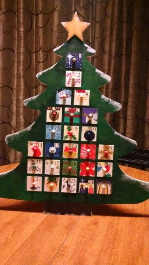 Blank Wooden Advent Calendar From Michaels Hand Painted At Home Wooden Advent Calendar Advent Calendar Seasonal Crafts