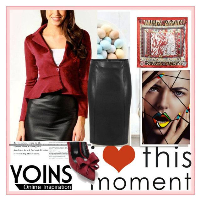 """""""YOINS 18"""" by djulovic-mirela ❤ liked on Polyvore featuring MustHave, fall2015 and yoins"""