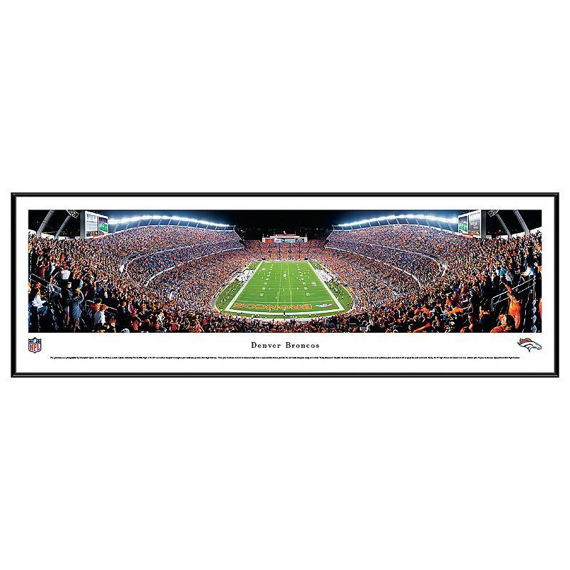 Denver Broncos Football Stadium End Zone Framed Wall Art, Multicolor ...