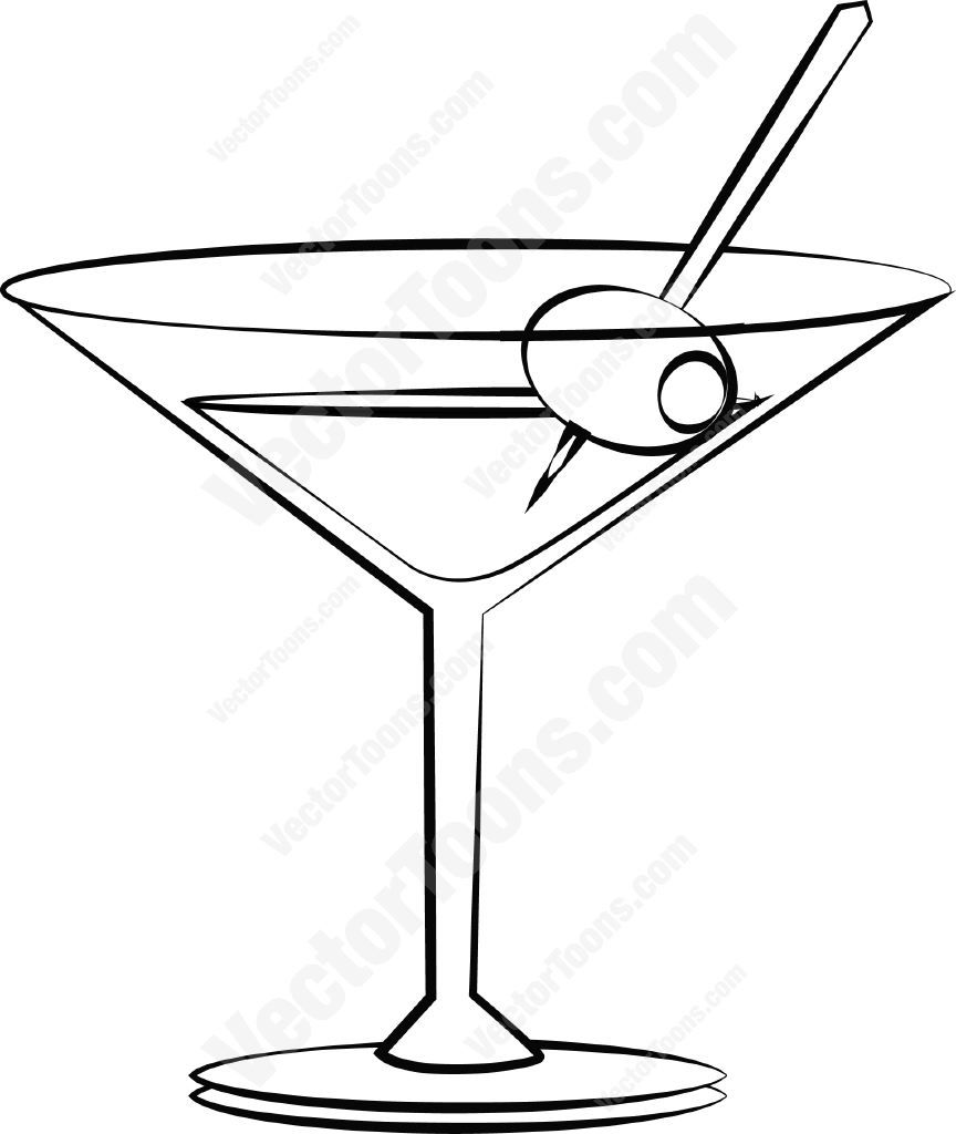 Martini With An Olive Drawing Pinterest Martini Cocktails And