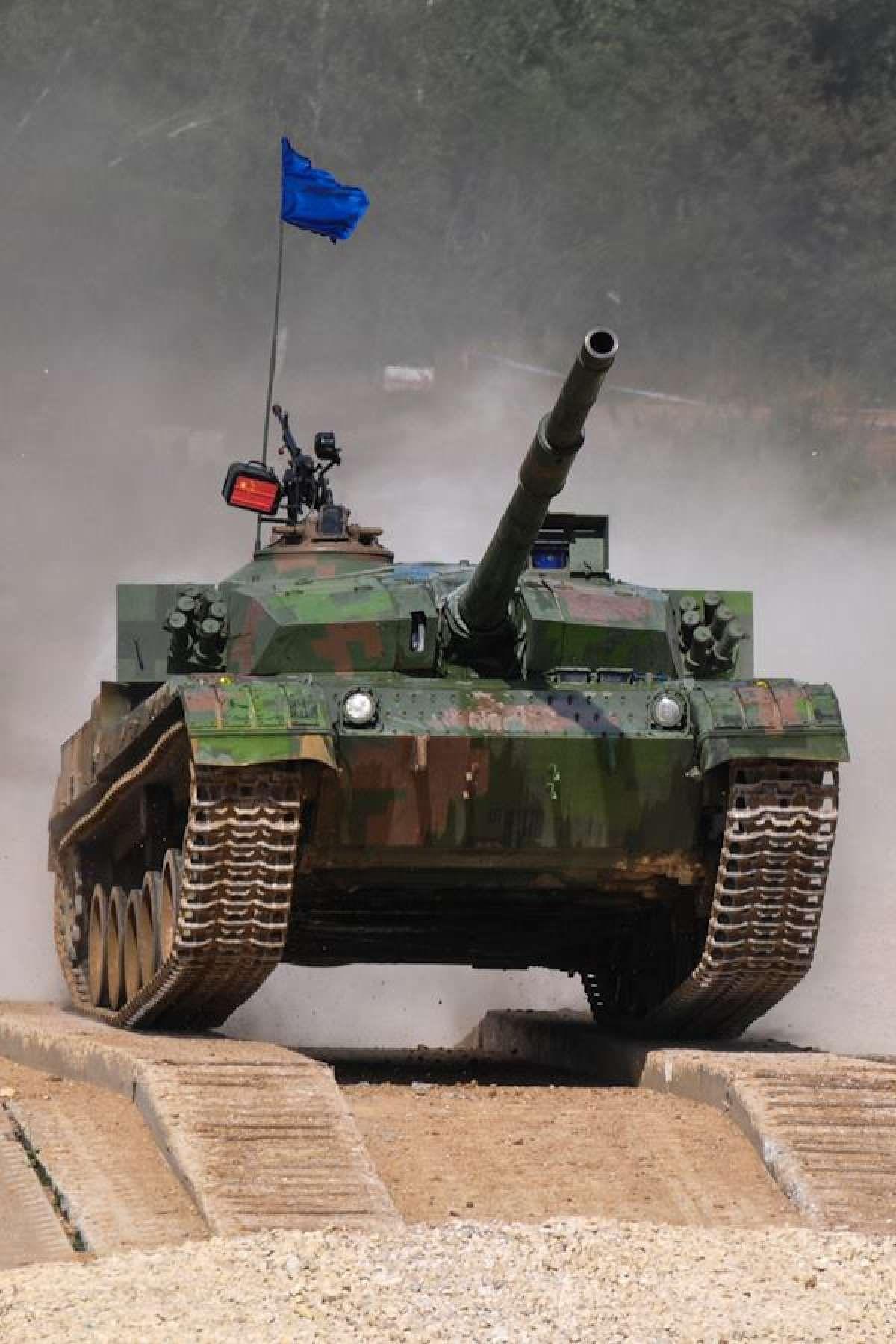 China Russia International Army Games Tank Biathlon