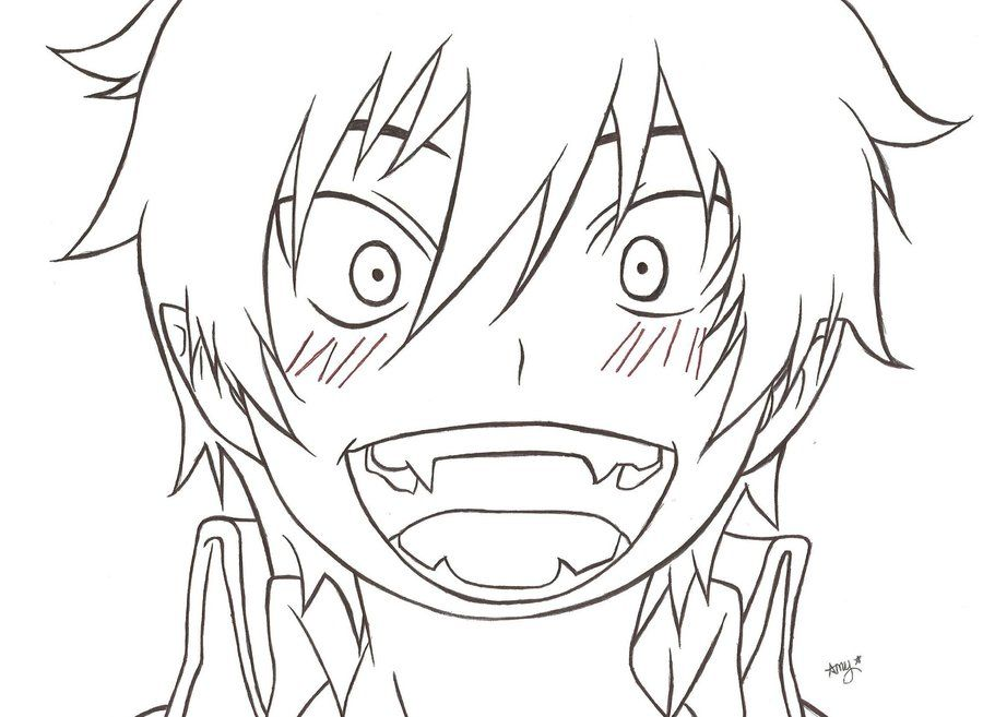 Rin Okumura By Amyosaurus Rex Deviantart Com On Deviantart Ao No Exorcist Blue Exorcist Rin Okumura Anime Lineart Anime Character Design
