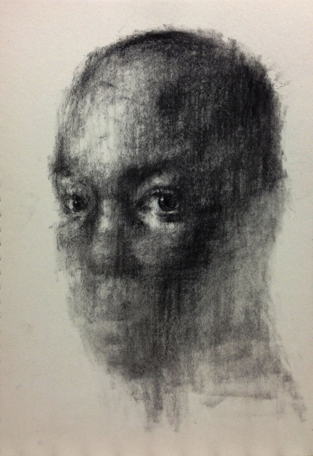 (D26) untitled charcoal on paper by ShinKwangHo
