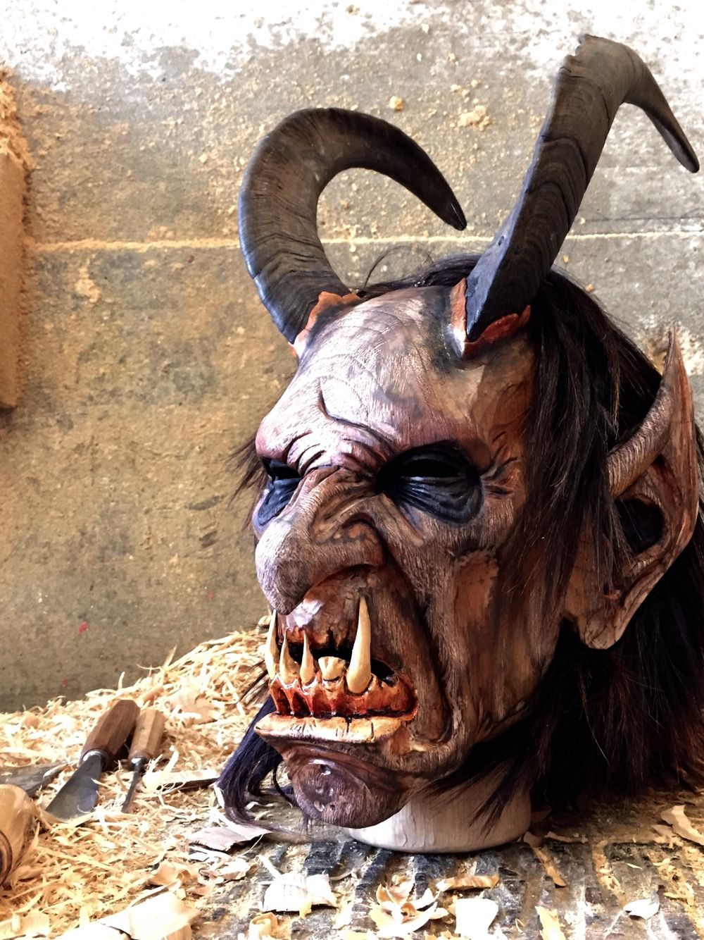 Krampusmask Carved Out Of Wood Austria 2015 Moinat Maskenarthur