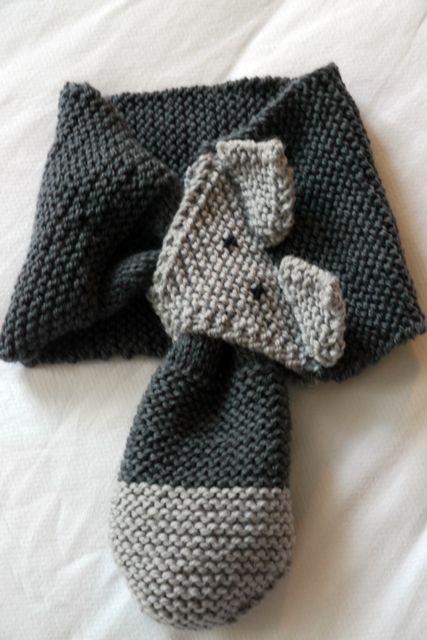 tricoter une echarpe pour fillette