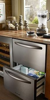 A Hideaway Kitchen Alternative Refrigerator Drawers Outdoor Kitchen Appliances Outdoor Kitchen Design Refrigerator Drawers