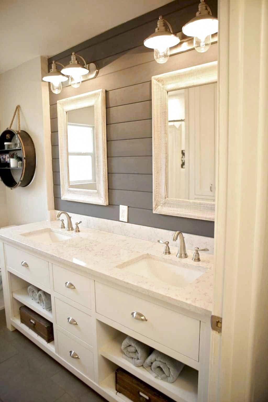 80 Favourite Farmhouse Bathroom Decor Ideas Favouritefarmhousebathroomdecorideas In 2020 Bathroom Remodel Master Bathrooms Remodel Farmhouse Bathroom Decor