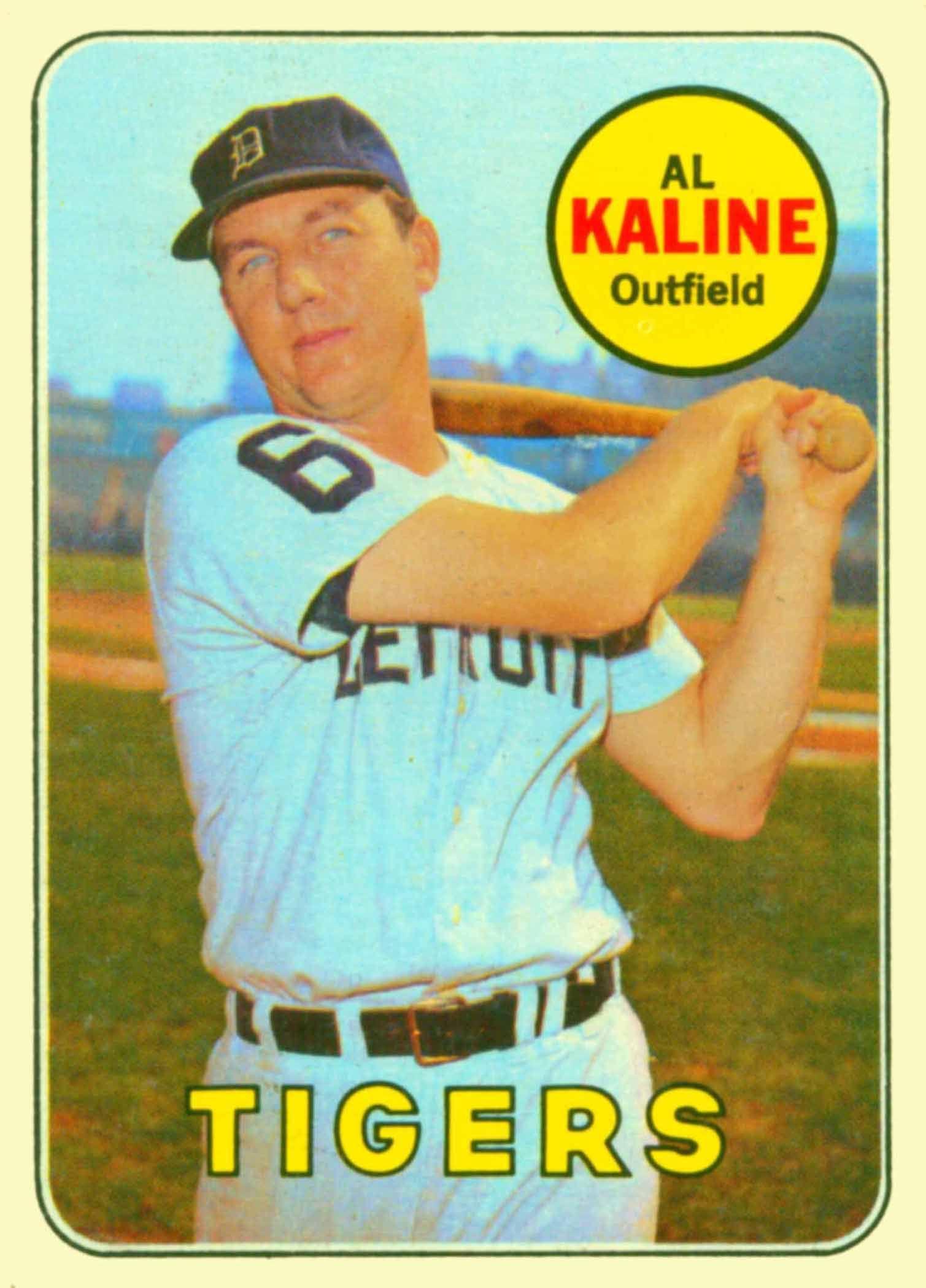 1969 topps al kaline baseball card values baseball