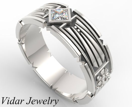 009563a2145 Star Wars Wedding Band For Men