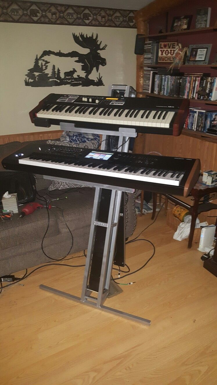 My live performance rig  Korg Kronos 2 and Hammond XK-1C