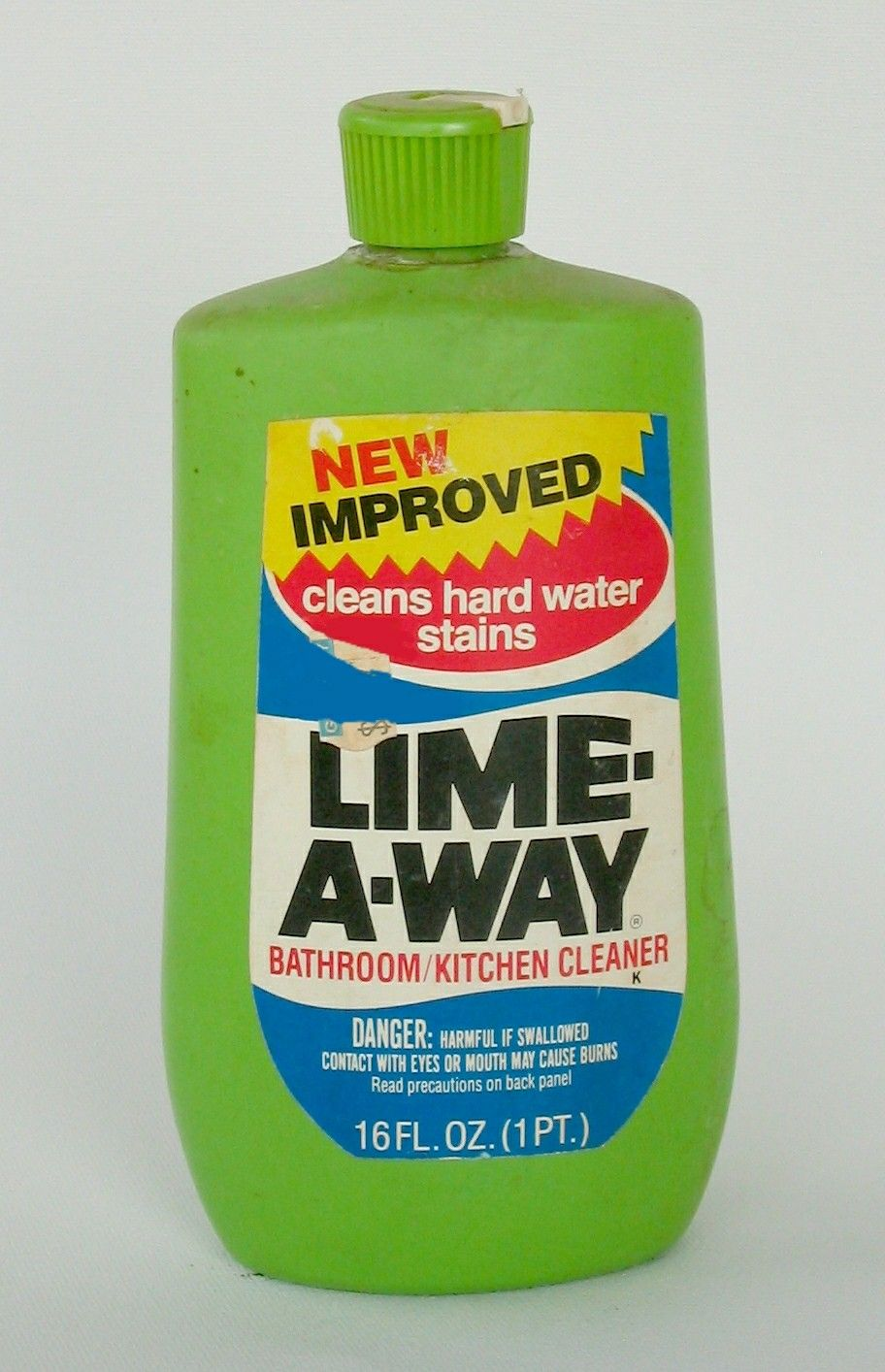 Vintage Lime Away Liquid Cleaner Bottle Ecolab Now Reckitt