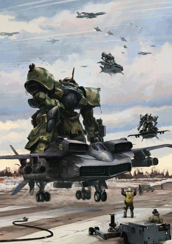 Ms 06 Zaku Ii Gundam Art Gundam Wallpapers Gundam