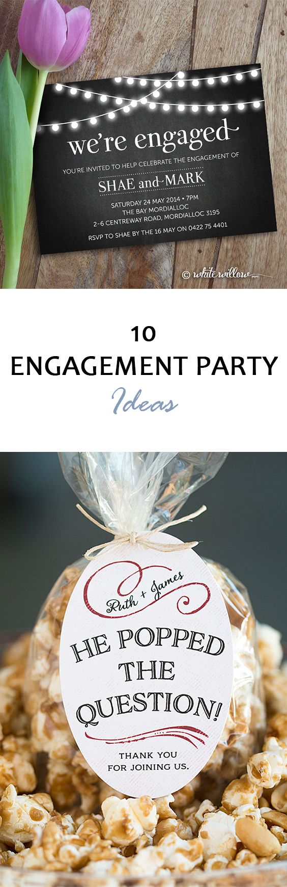 10 Engagement Party Ideas Last minute wedding gifts