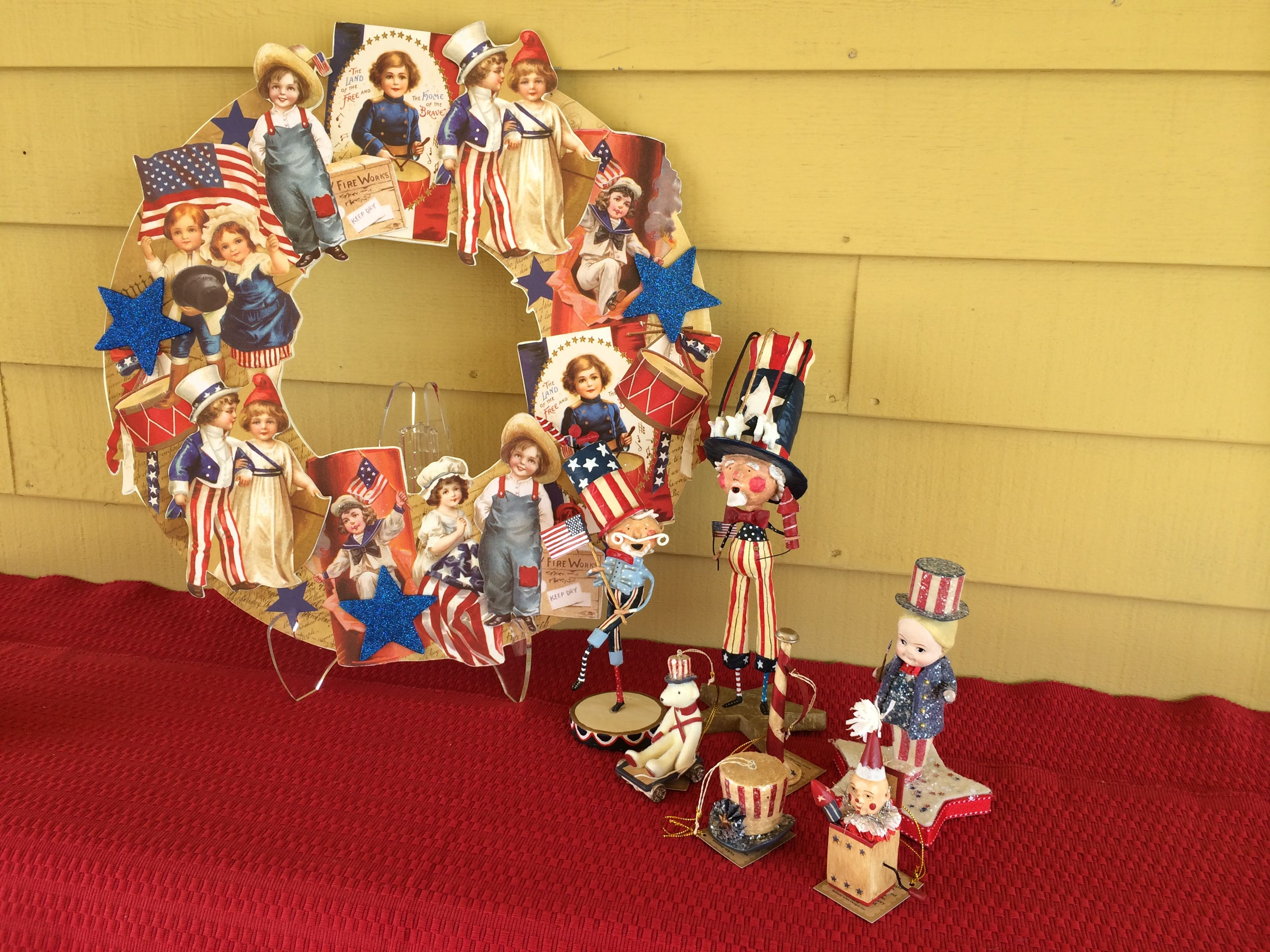 4th of July wreaths and 'cuties!' Great for decorating year round too.