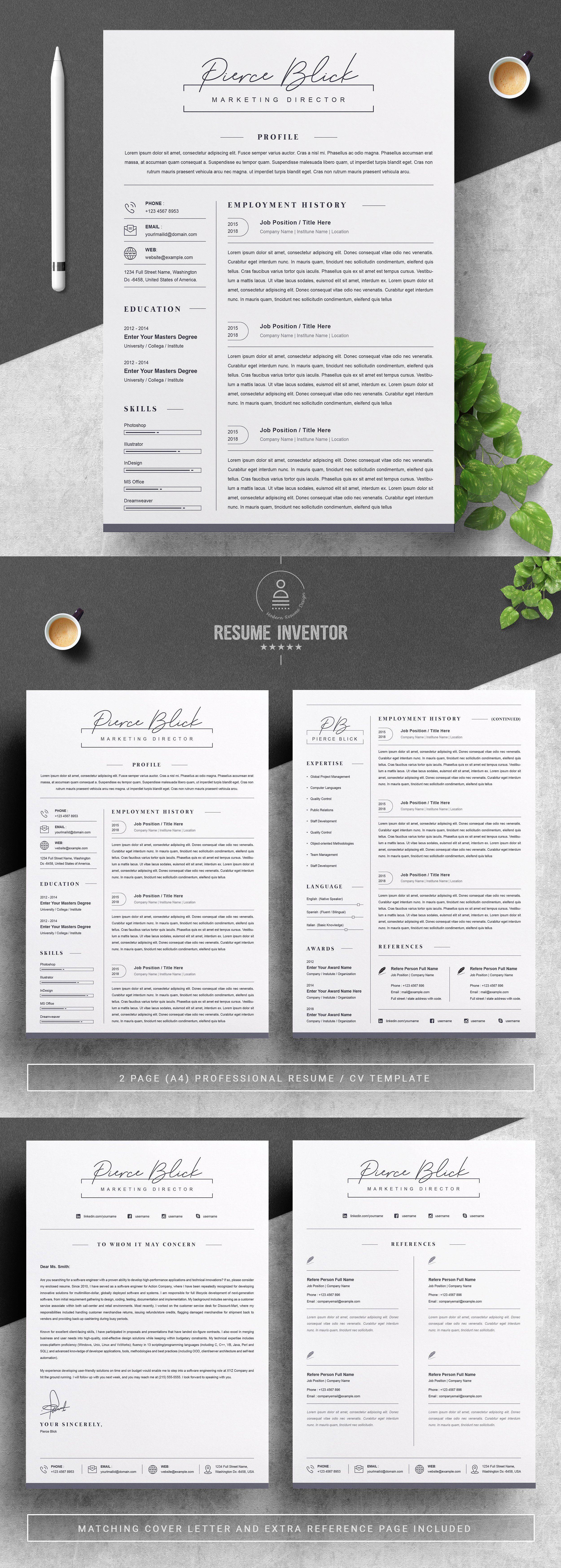 Resume / CV Bundle 85 for 29 in 2020 Cover letter