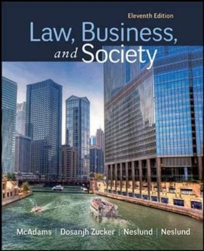 Law, Business and Society (Irwin Business Law)