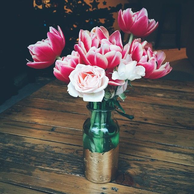 Tulips... not in season in summer but beautiful pink color!