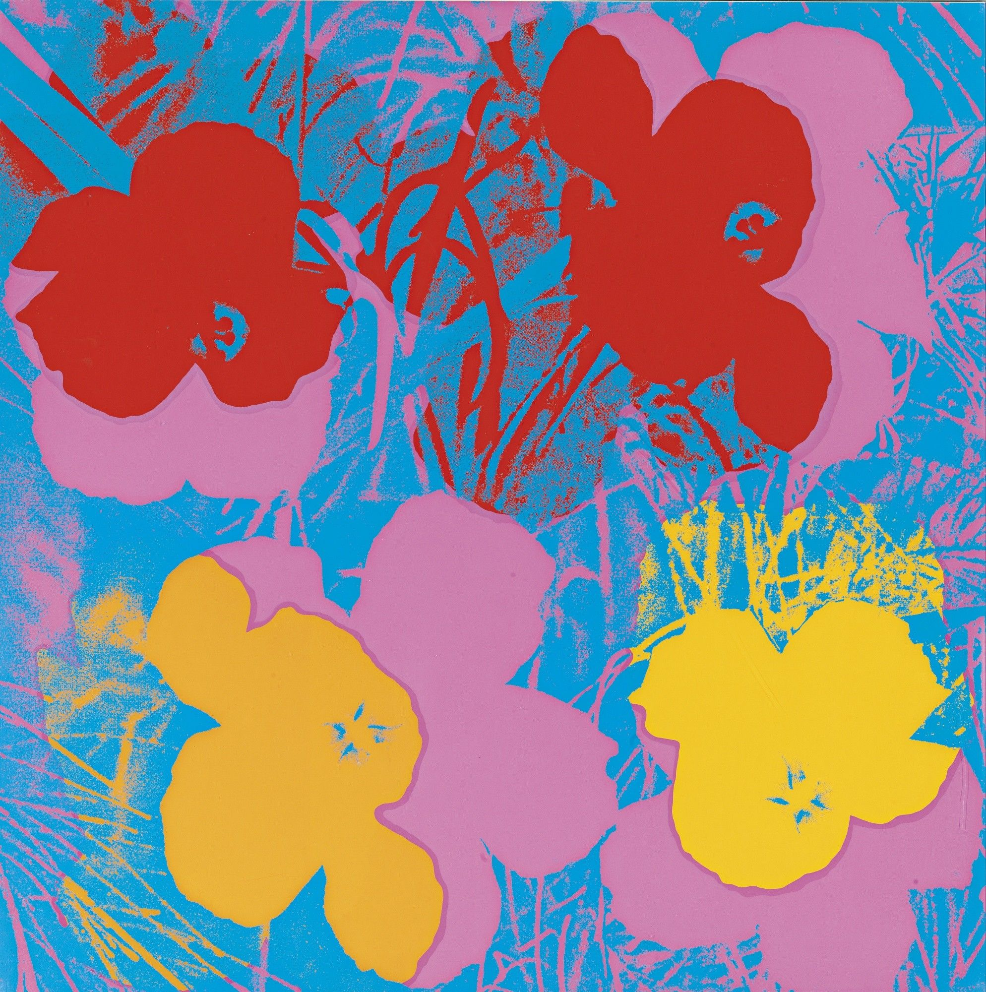 Andy Warhol 'Ten Foot Flowers' £1250   Modern Masters Exhibition ...