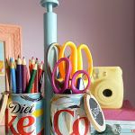 How to Make a DIY Craft Caddy with Soda Cans