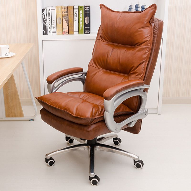 Genuine Leather Luxurious And Comfortable Home Office Chair Adjustable Height Ergonomic Boss Seat Furniture Sw Home Office Chairs Cheap Office Chairs Furniture