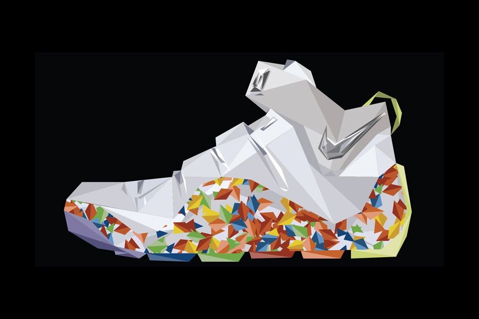 9003183a6c01 A-Decade-of-LeBron-James -Signature-Nike-Footwear-Illustrated-5  Illustration inspiration