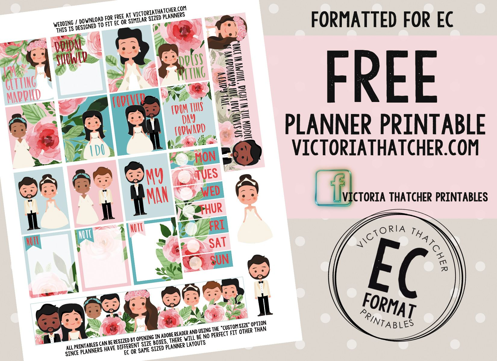 Free Printable Wedding Planner Stickers From Victoria Thatcher