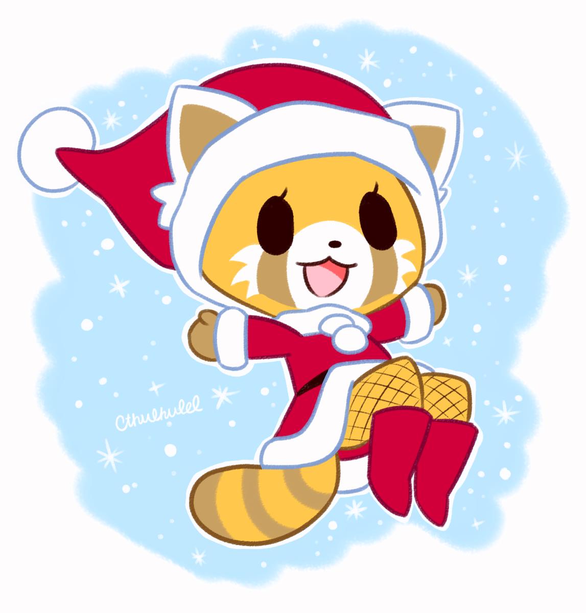 Aggretsuko Christmas.Stacie Is Creating Art Cthulhulel Awesome Anime Kawaii