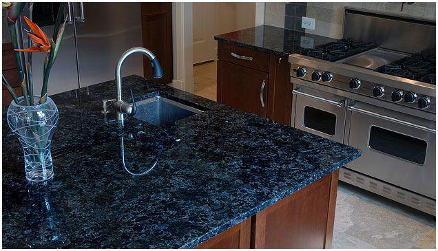 VOLGA GRANITE   Blue granite, Blue granite countertops ...