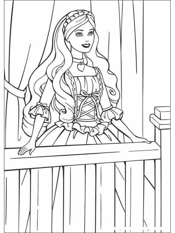 barbie princess coloring pages | Mother\'s Day | Pinterest