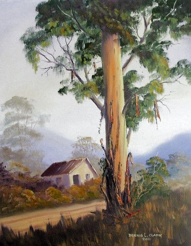 How To Paint Bluegum Trees In Oil Tree Painting Canvas
