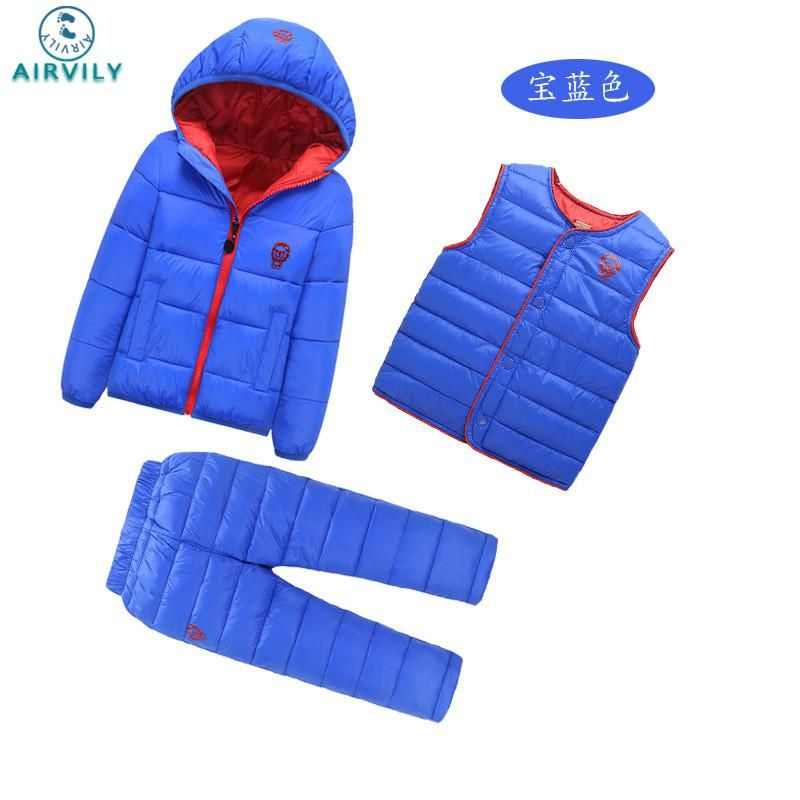 7da83c235 3 Pcs 1 Lot 2016 Winter Baby Girls Boys Clothes Sets Children Down ...