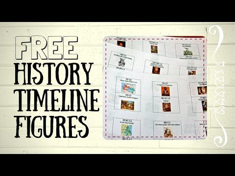 Free Timeline Figures Homeschool Match Story of the World #historyoftheworld